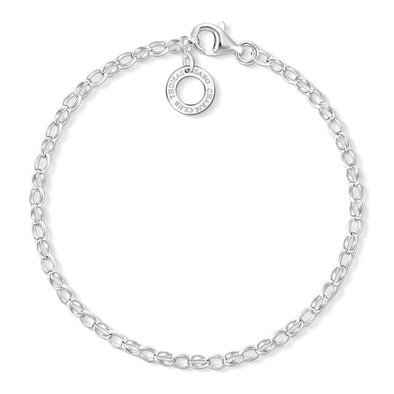 Thomas Sabo Sterling Silver Classic Charm Bracelet X0163-001-12-S