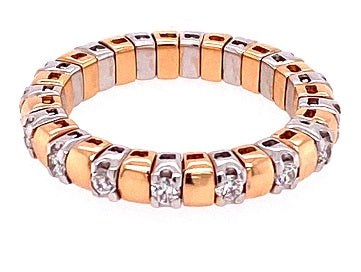 18ct Rose Gold Expandable Diamond Eternity Ring