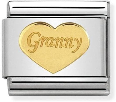 NominationGold Granny Heart Charm 030162-39