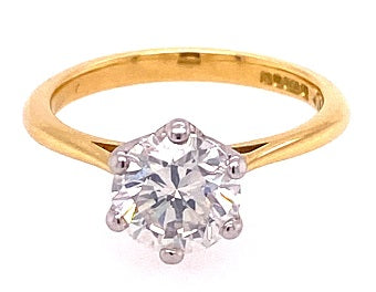 18ct Gold Solitaire Diamond Ring ASM1405