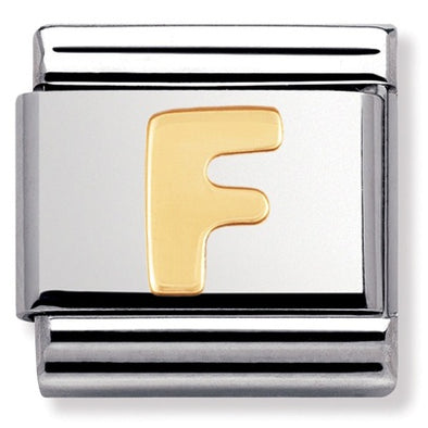 Nomination Gold Letter F Charm 030101 06