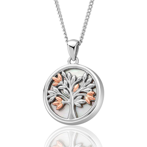 Clogau Tree of Life White MOP Pendant 3SNTLCWP