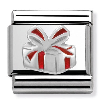 Nomination Enamel Red Gift Box Charm 330204-06