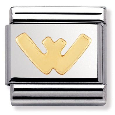 Nomination Gold Letter W Charm 030101-23
