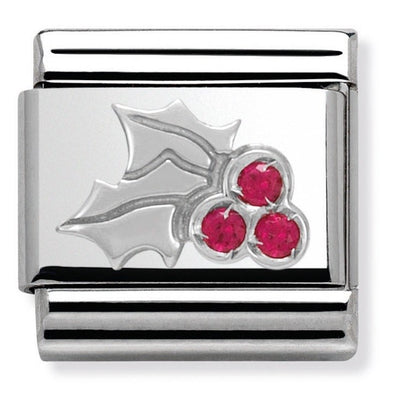 Nomination Enamel CZ Red Holly Charm 330313-03