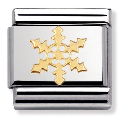 Nomination Gold Snowflake Charm 030109-14
