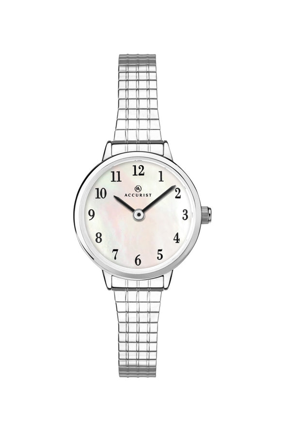 Accurist Women's Expandable S/S MOP Dial Watch 8265