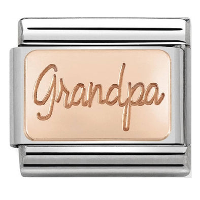 Nomination Rose Gold Grandpa Plate Charm 430101-35