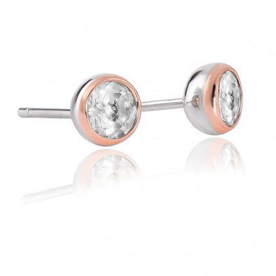 Clogau Celebration White Topaz Stud Earrings 3SEJS1