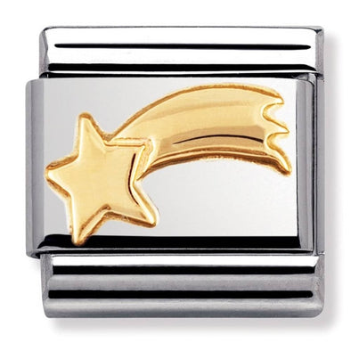 Nomination Gold Shooting Star Charm 030110-20