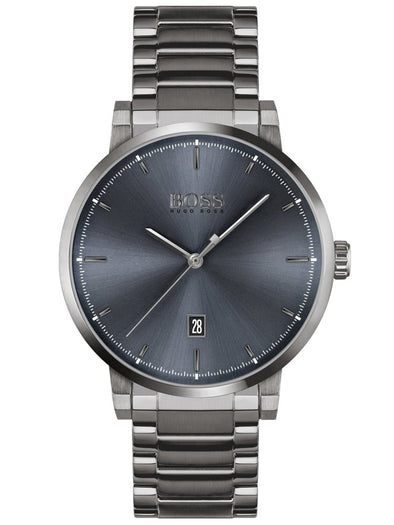 Hugo Boss Gents Watch Grey Dial Grey S/S Bracelet 1513793