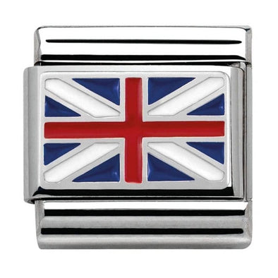 Nomination Great Britain Flag Charm 330207-04