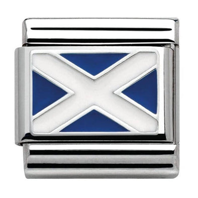 Nomination Scotland Flag charm 330207-01