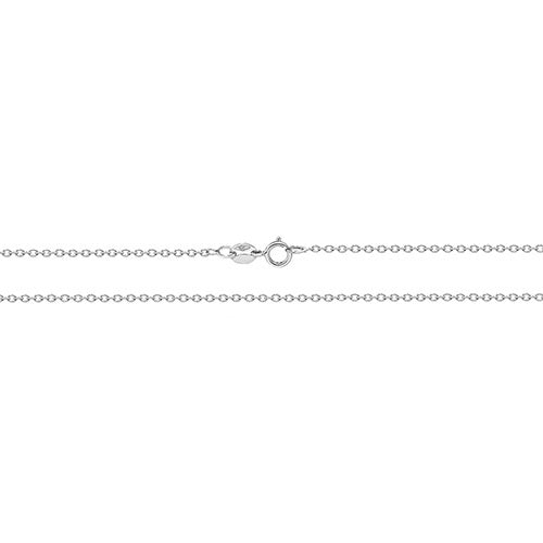 9ct White Gold Rolo Chain 20""