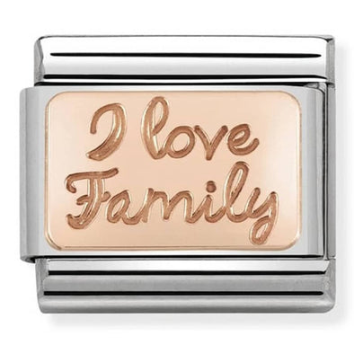 Nomination Rose Gold I Love Family Plate Charm 430101-41
