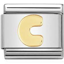 Nomination Gold Letter C Charm 030101 03