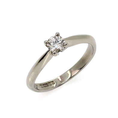Palladium Solitaire Diamond Ring ASM1403