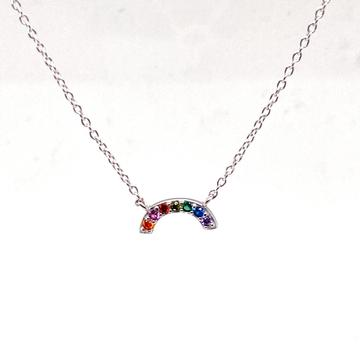 Daydream Sterling Silver Rainbow Necklace