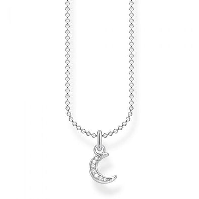 Thomas Sabo Silver Pave Moon Necklace KE2050-051-14-L45V