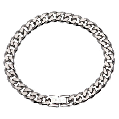 Unique & Co Stainless Steel Bracelet Matte and Polished 21cm LAB-155/21cm