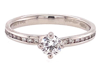 Platinum Solitaire Diamond Ring MQ4647