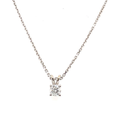 18ct Gold Solitaire Diamond Necklace