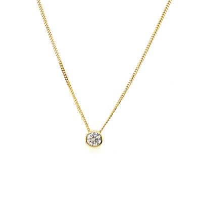 9ct Gold Diamond Rubover Pendant