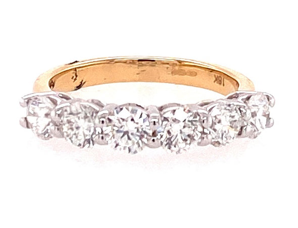 18ct Yellow Gold Six Stone Diamond Ring RN6693