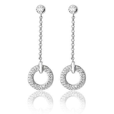 Silver Cubic Zirconia Drop Earrings