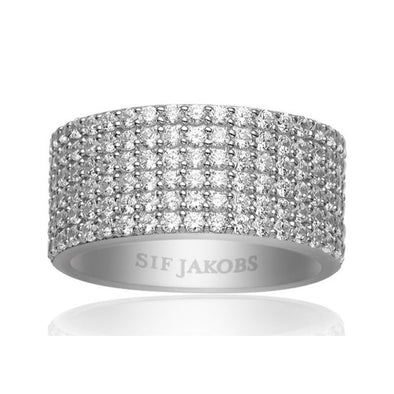 Sif Jakobs Ladies Silver Bacoli Ring SJ-R10766-2-CZ/58