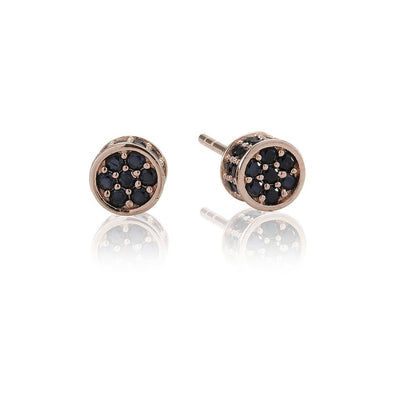 Sif Jakobs Portici Rose Gold with Black Zirconia Ear Studs SJ-E2161-BK