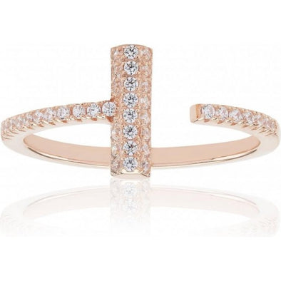 Sif Jakobs Ladies Rose Gold-Plated Ring SJ-R0119-CZ-RG-/54