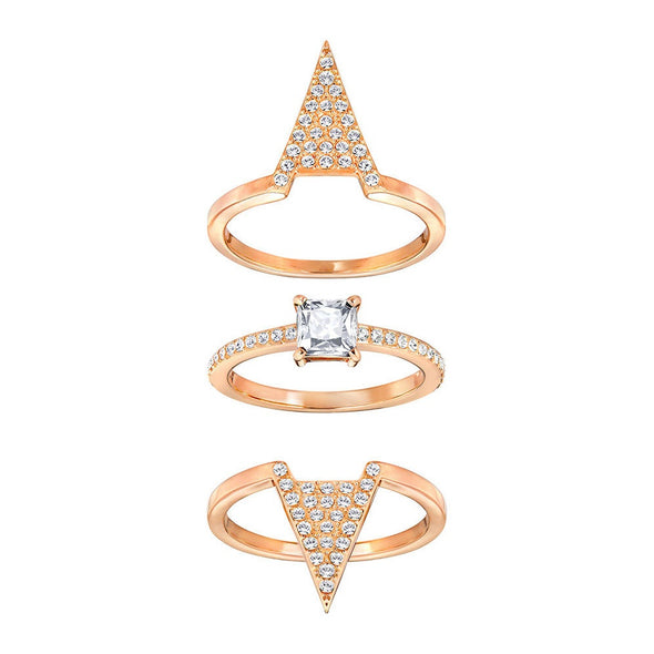 Swarovski Funk Ring Set Rose Gold Size 55 5241272