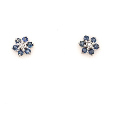 9ct Gold Sapphire Earrings