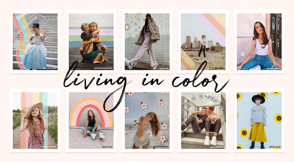Living in Color Digital Doodle Pack