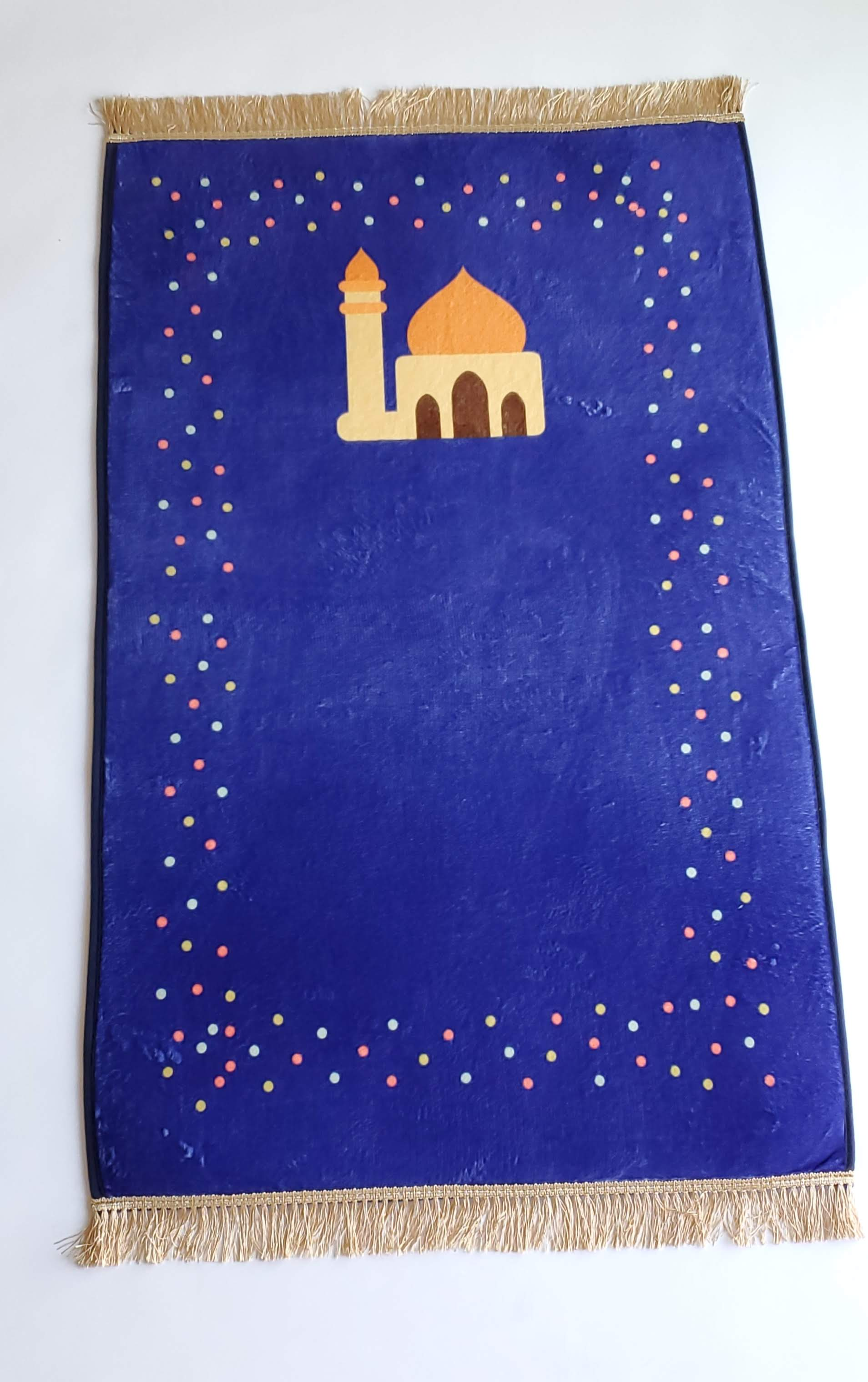 Prayer mat - Al-Jumah (Blue) (4457358753841)