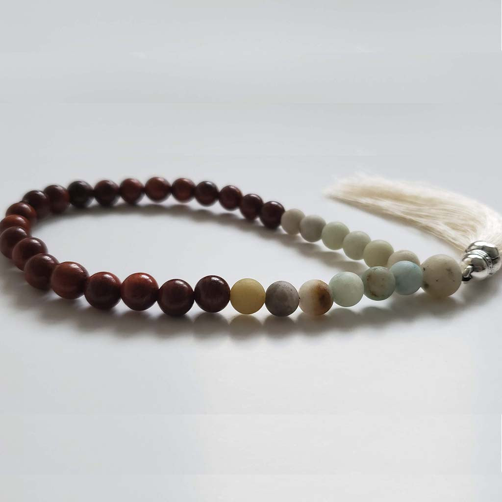 Prayer beads made from unique Amazonian stone (4339130761265)