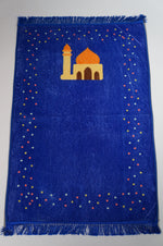 Blue prayer mat with mosque (4457358753841)