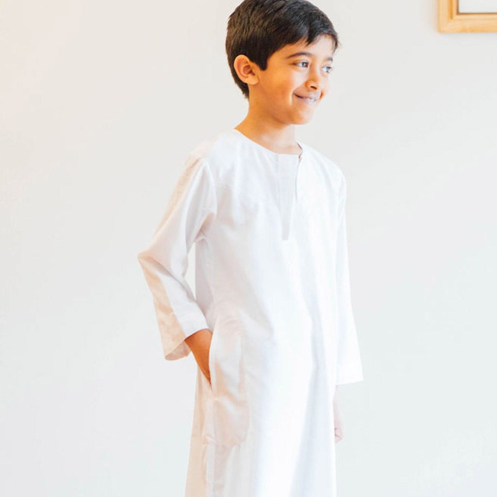 White thawb for boys