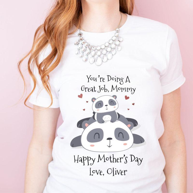Personalized Mother's Day T-Shirt06 - Panda