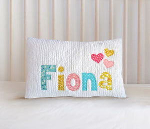 Personalized Baby Name Pillow07 - Loves - Girl