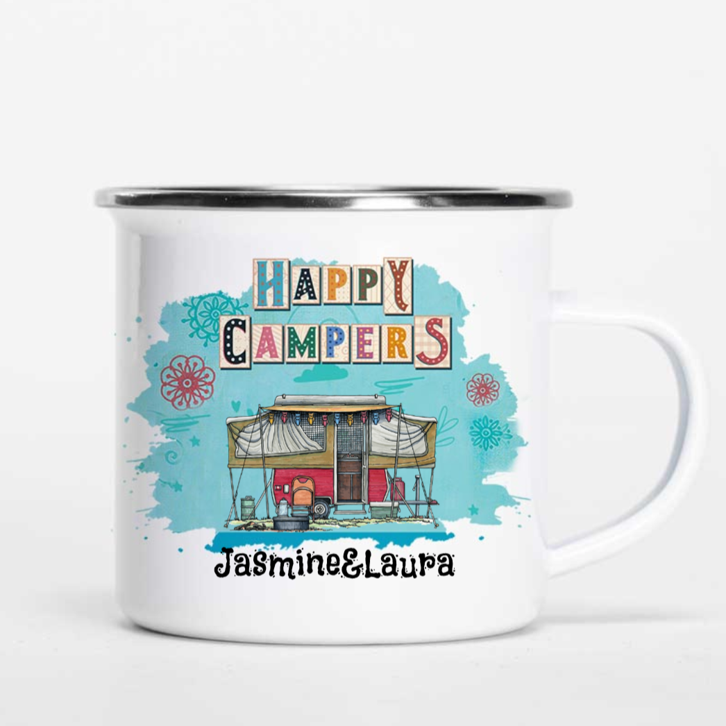 Personalized Happy Campers Mugs - Truck I18