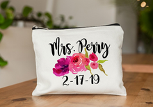 Load image into Gallery viewer, Personalized Bride Makeup Bag 01