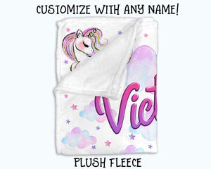 Baby Swaddle Fleece Blanket-Unicorn