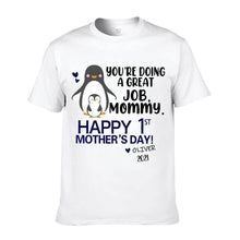 Load image into Gallery viewer, Personalized Mother's Day T-Shirt04 - Peguin
