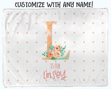 Load image into Gallery viewer, Baby Swaddle Fleece Blanket-Big Letter