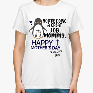 Personalized Mother's Day T-Shirt04 - Peguin