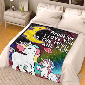 Personalized Magical Unicorn Fleece Blanket 03