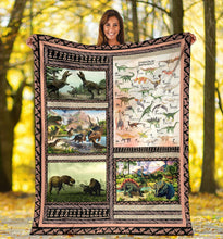 Load image into Gallery viewer, Custom Education Blanket I05 - Future Paleontologist