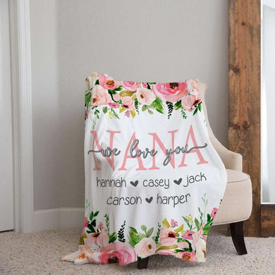 Personalized  Flora Blanket 11